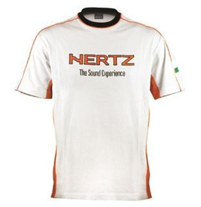 Picture of T - Shirt - Hertz HZ WHITE / ORANGE