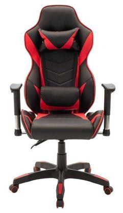 Εικόνα της Gaming Καρέκλα - τεχνόδερμα μαύρο - κόκκινο