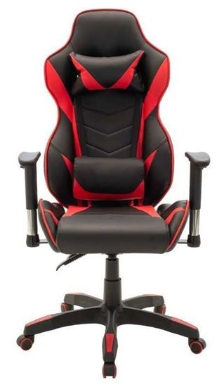 Picture of Gaming - Office chair bucket-Gaming pakoworld in black-red pvc color
