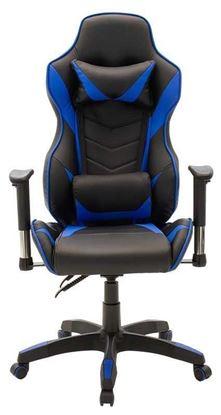 Εικόνα της Gaming Καρέκλα - τεχνόδερμα μαύρο - μπλε