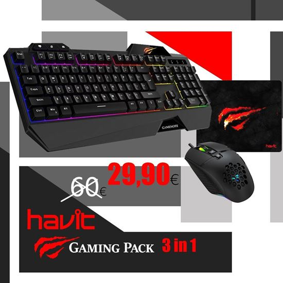 Picture of GAMING PACK - Havit ''VS2'' 3 σε 1 Combo
